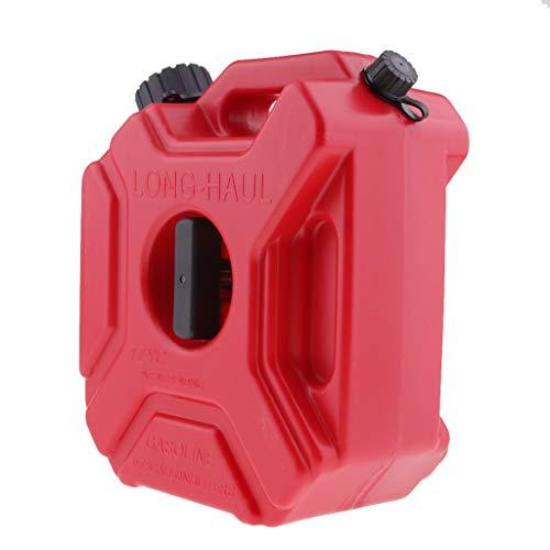 KESOTO El Tanque De Gasolina Plástico Rojo Portátil del Aceite del Envase del Aceite De La Gasolina De La Motocicleta 3L