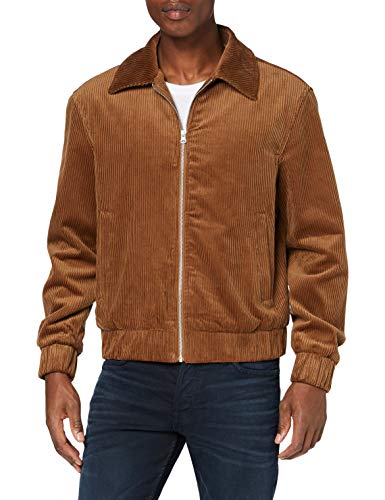 Urban Classics Herren Boxy Corduroy Jacket Jacken, Toffee, XL