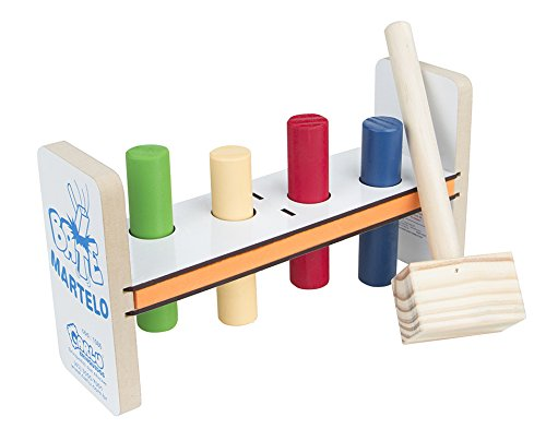 Carlu Brinquedos - Bate Martelo Jogo de Coordenação, 18+ Meses, Multicolorido, 1086