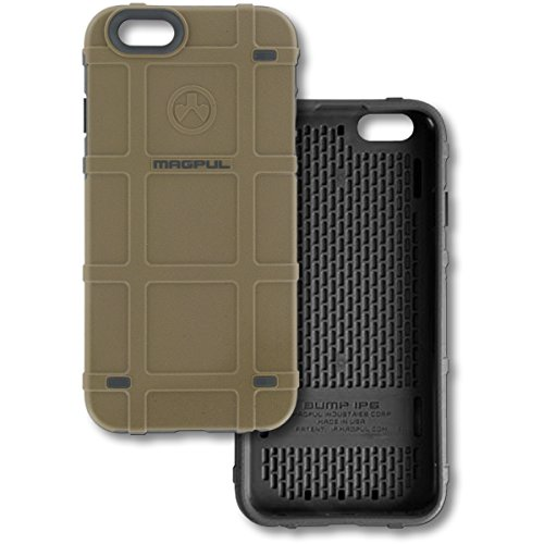 "Authentic Made in U.S.A. Magpul Industries Bump Case for Apple iPhone 6 / 6S (4.7"") Magpul Bump Case iPhone 6 FDE/Grey"