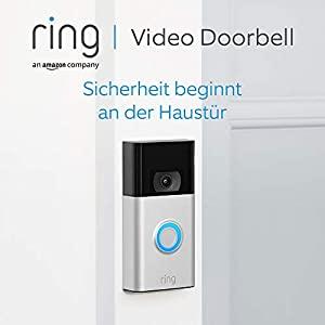 Ring Video Doorbell von Amazon | 1080p HD-Video Türklingel, fortschrittliche Bewegungserfassung und einfache Installation (2. Gen.) | Mit 30-tägigem Testzeitraum für Ring Protect