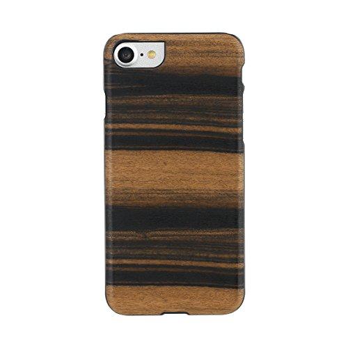 【日本正規代理店品】Man&Wood iPhone7 天然木ケース Ebony アイフォン カバー I8068i7