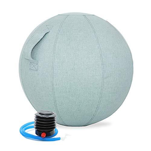 GronG(グロング) バランスボール カバー付き 55cm 耐荷重200kg ネイビー