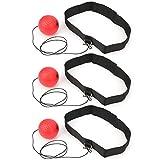 Vbest life 3Pcs Palla da Boxe montata sulla Testa Boxe Reflex Ball Fighting Training Bounce Response Ball Accessori