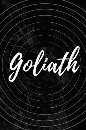 Goliath: Personalized Sketchbook with Name Goliath | Blank Writing Drawing Notebook