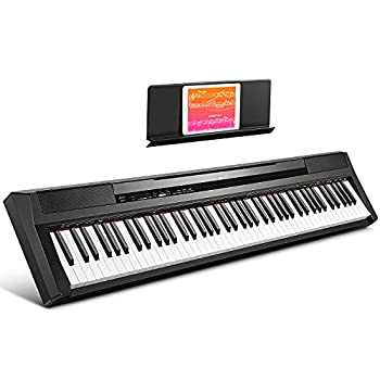 Donner DEP-10 Beginner Digital Piano 88 Key Full Size Semi-Weighted Keyboard Portable Electric Piano with Sustain Pedal Power Supply