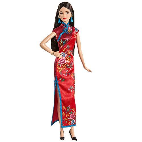 Barbie Año nuevo lunar Muñeca para niñas y niños +3 años (Mattel GTJ92)