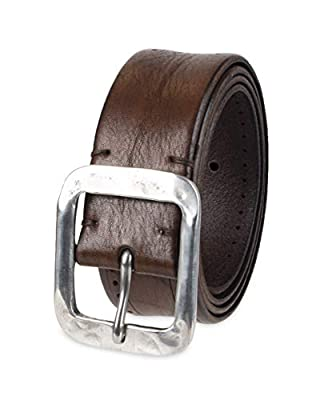John Varvatos Leather Belts for Men Dress Casual for Jeans, Brown Fleetwood, 36