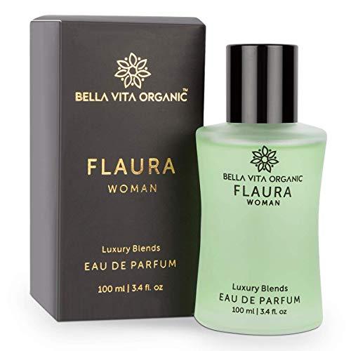 Glamorous Hub Bella Vita Perfume Orgánico Flaura Mujer Floral, Oriental Y Amarga Fragancia Dulce Aroma de Larga Duración, 100 Ml Edp