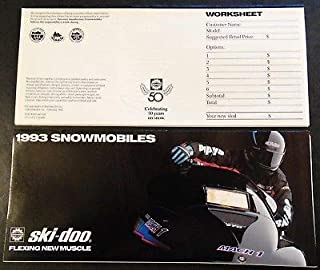 1993 SKI-DOO SNOWMOBILE SALES BROCHURE MACH 1 PLUS X 4