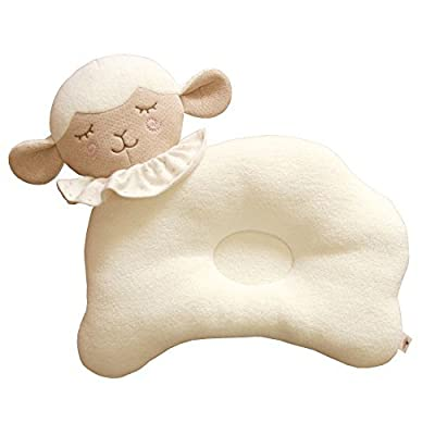 Global Certified Organic Cotton Baby Pillow, No Bleaches, No Printing, Protection for Flat Head Syndrome