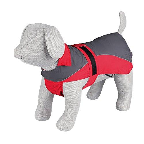 Trixie Lorient Raincoat, 40 cm, Red/Grey