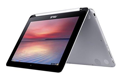 ASUS C100PA 10.1 Inch Chromebook Flip (Rockchip 3288 Processor, 4 GB RAM, 16 GB eMMC, Chrome OS, 1280x800 Touchscreen, HD Web Camera) - Metallic Silver