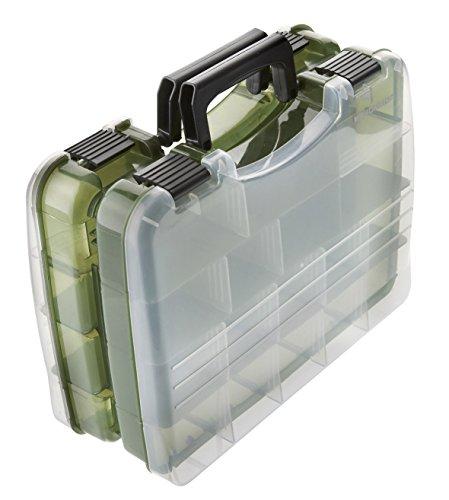 Deluxe Gerätekoffer Doppelseitig Gerätekasten Angelkoffer Angelbox Kunstköderbox