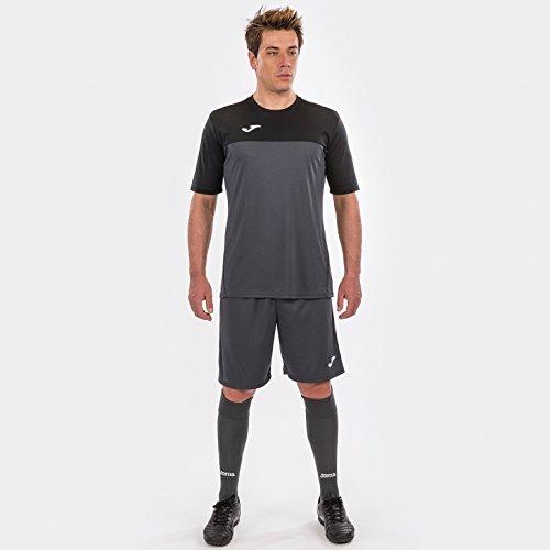 Joma Winner Camisetas Equip. M/C, Hombre, Antracita Negro, L