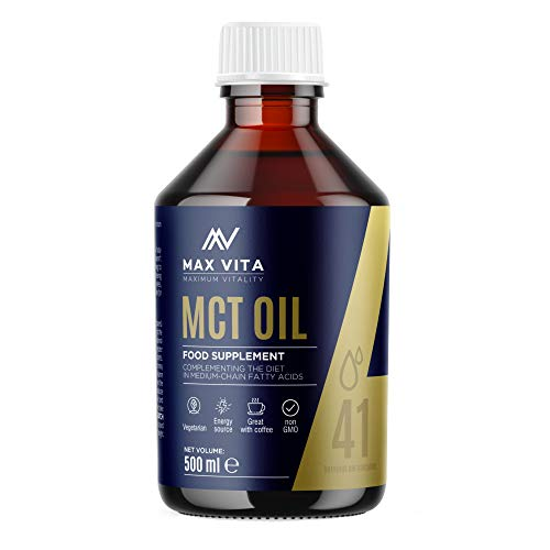 MCT Oil 100 Pure C8 C10 Oil 500ml Boosts Ketones Premium Energy Source with no Carbs Great for Bulletproof Coffee Shakes or Salad Perfect for Keto and Paleo Diet Vegetarian Friendly