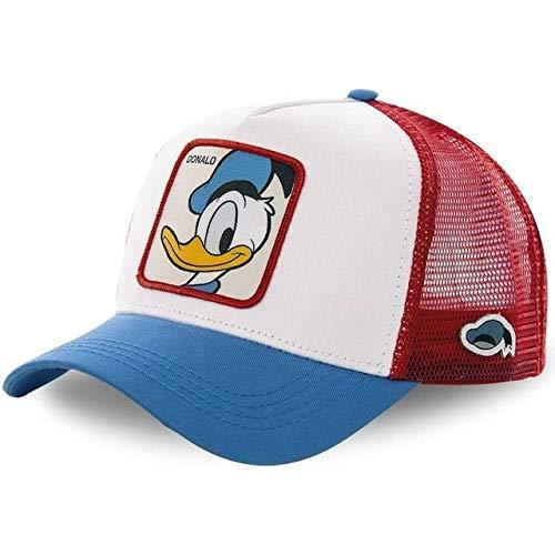Nueva Gorra de béisbol de algodón Snapback para Hombres, Mujeres, Hip Hop, papá, Gorra de Malla, Gorra de Camionero-Donald Duck White