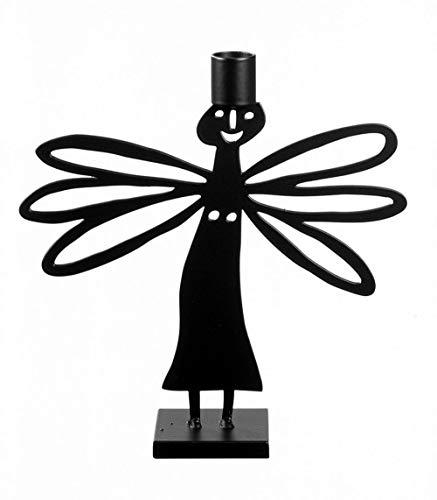 Bengt & Lotta kleiner Kerzenhalter Engel DRAGONFLY, schwarz