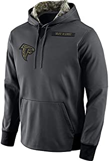 Dunbrooke Apparel Men's Atlanta Falcons Salute to Service Sideline Therma Pullover Hoodie