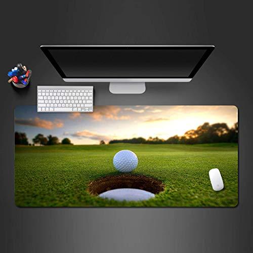 Große Gaming-Mauspad XL Erweiterte Computer-Mauspad Dicke Tastatur Mausmatte Grüner Rasen Golfplatz Muster Schreibtischmatte mit rutschfester Basis, für Desktop, Laptop, Büro & Zuhause