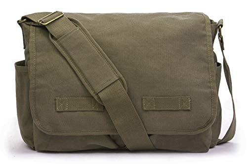 Sweetbriar Classic Messenger Bag - Vintage Canvas, Olive Drab, Size Large