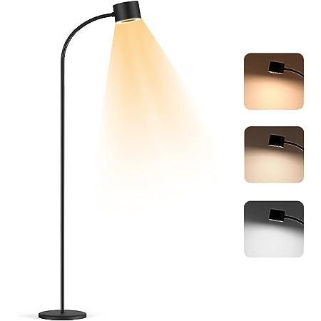 Henzin Lampadaire LED Moderne ,Lampadaire LED Dimmable 12 W 800 LM Lampe de Lecture,Cou Flexible, Infinite Dimmable, Touch Control, Détachable pour chambre salon ,Noir