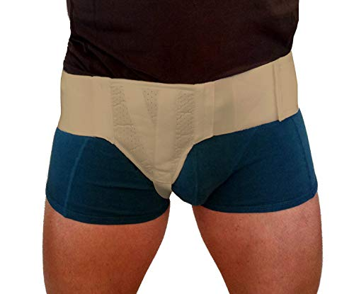 Hernia Gear Right Side Inguinal Hernia Groin Belt Beige (S 26-30)