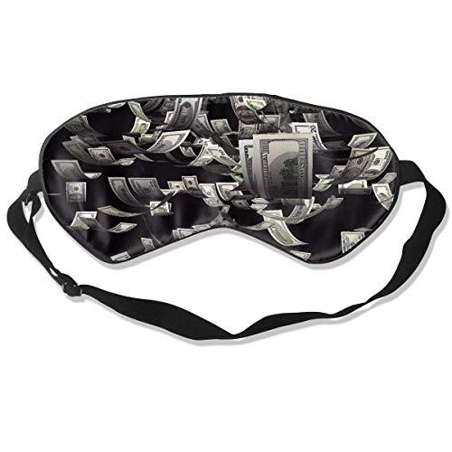 Premium Super Zacht Ademend Oogmasker met Verstelbare Band - Amerikaanse Vlag Patriottisch - Licht Blokkerend Slaapmasker voor Reizen, Nap, Yoga, Meditatie Eén maat Usa Dollar Bill Schilderij