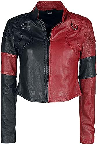 Margot Robbie Suicide Squad 2 Harley Quinn 2021 Cosplay traje corto chaqueta de cuero
