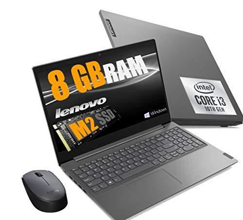 Notebook Lenovo SSD Cpu Intel Core I3 di 10Gen I3-1005G1, Display Full Hd Led da 15,6  Ram 8Gb DDR4 , SSD 256GB Nvme , Wifi, Webcam, Bt, Win10 Pro, Open Office, Mouse wifi Logitech
