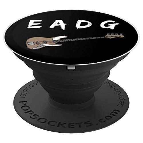 Bass Guitar Player Strings Frets Gift Grip PopSockets Grip and Stand for Phones and Tablets