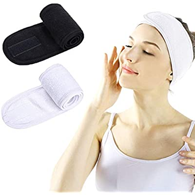 Facial Headband Adjustable Elastic Makeup Hair Band Head Wrap Spa Shower UK