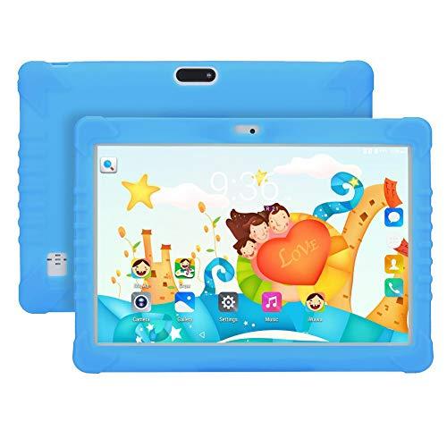 SSSY Tablet Niños de 10 Pulgadas, 1GB RAM 16GB ROM, Quad Core Tablet Infantil con Funda de Silicona, Tableta con Cámara 0.3MP+2.0MP, Dual SIM/GPS/OTG/Bluetooth, para Juegos Educativos