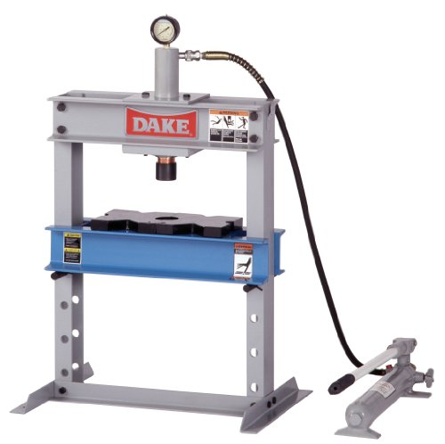 Dake B-10 Model Manual Utility Hydraulic Bench Press, 10 Ton Capacity, 23