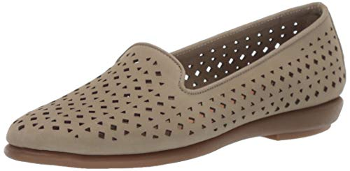 Aerosoles - Women's You Betcha Slip-on Loafer - Casual Comfort Style Flat with Memory Foam Footbed (11W - Lt Green Nubuck)