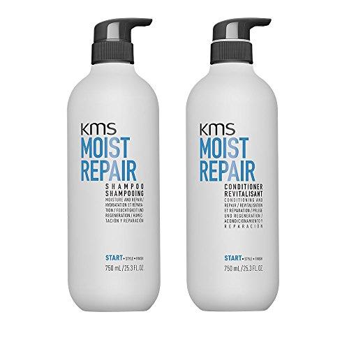 KMS Moist Repair - Shampoo und Conditioner, für trockenes Haar, 750 ml
