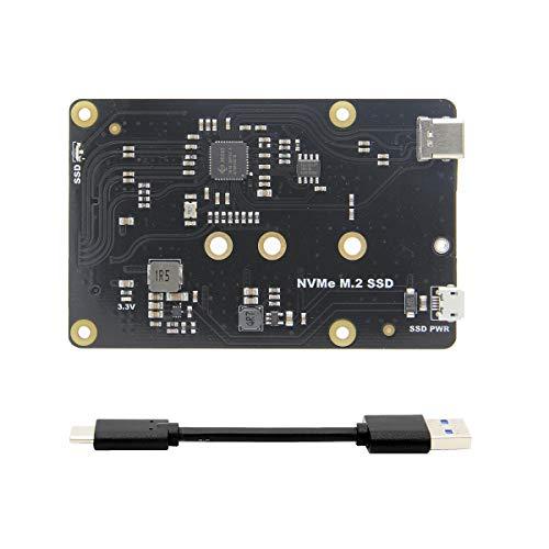 ILS X870 NVME M.2 2280/2260/2242/2230 SSD SATA NAS uitbreidingskaart met USB 3.0 Jumper voor Raspberry Pi / Rock64