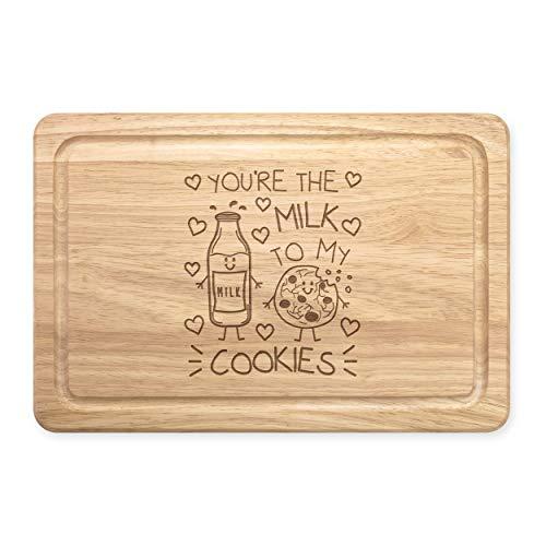 You'Re The Lait To My Cookies Rectangulaire Planche à Découper en Bois