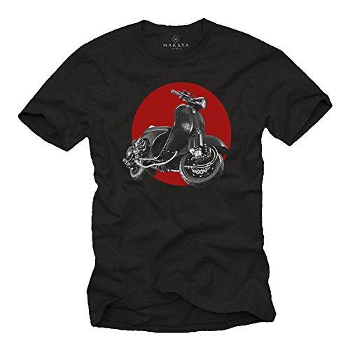 MAKAYA Vintage T-Shirt - Tuning Moto - Scooter Accesorios - Camiseta Motera...