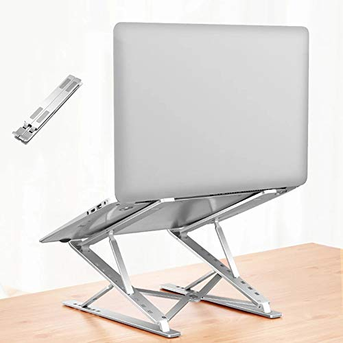 DJG Adjustable Laptop Stand, Portable Laptop Stand Multi-Angle Laptop Holder with Heat-Vent To Elevate Aluminum Laptop Stand Compatible