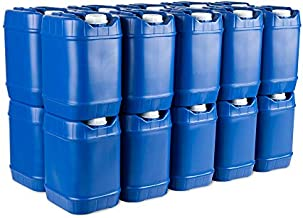 5-Gallon Stackable Water Containers (40 Gallon) Emergency Water Storage Containers, BPA Free, high Density polyetholene