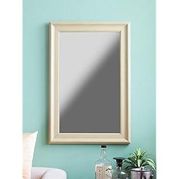 999Store Fiber Framed Decorative Wall Mirror or Bathroom Mirror White (30X20)
