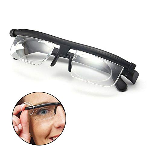 Focus Adjustable Eyeglasses, Light Weight Adjustable Reading Glasses Myopia -6D to + 3D Diopter Myopia HD Anti-Fatigue for Men and Women