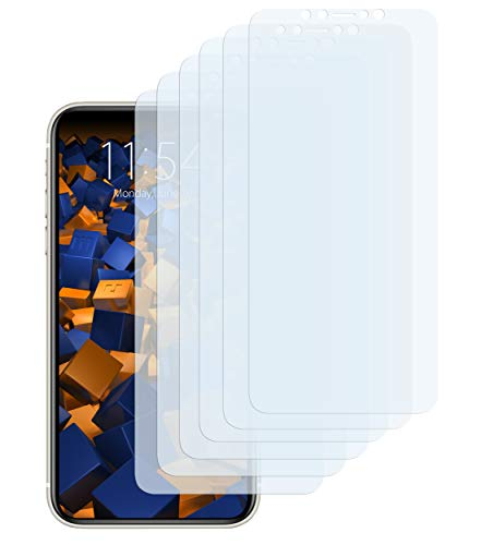 mumbi Schutzfolie kompatibel mit iPhone 11 Pro Folie klar, Bildschirmschutzfolie (6X), durchsichtig