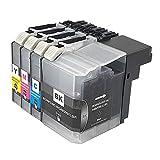 RICR Reemplazo De Cartucho De Tinta Compatible LC509XXL LC505XXL para Brother DCP-J100 J105 MFC-J200 (Paquete BK/C/M/Y 4) 1 Set
