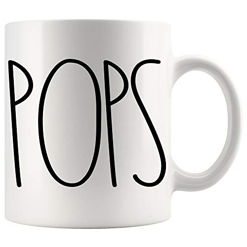 POPS Coffee Mug | POPS Rae Dunn Inspired | Rae Dunn Style | Birthday - Merry Christmas - Father's Day | Family Coffee Mug Birthday Present For The Best POPS Ever Coffee Cup 11oz