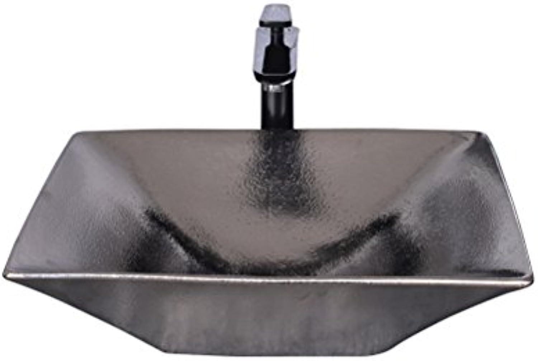 Europischen Stil Metall Waschbecken über Zhler Becken Persnlichkeit Kunst Becken Kreative Retro Waschbecken (50x38x13 cm) Waschpltze