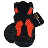 Muttluks Mud Monsters Summer Dog Boots – Rugged Barefoot Technology – Protects Paws – Flexible Rubber Soles, Traction Treads – Pet Booties – 2 Pack – Orange, Small/Medium