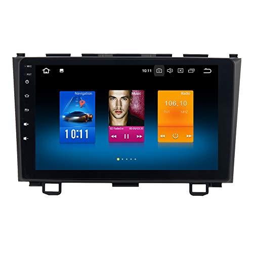 Dasaita 9' Android 9.0 Autoradio Bluetooth Coche para Honda CRV 2007-2011 1 DIN Radio GPS Coche 4G RAM 32G ROM Soporte WiFi Dab+ USB FM/Am Mandos de Volante
