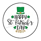 48 Happy St Patrick's Day Patricks Day Envelope Seals Labels Stickers Party Favors 1.2' Round